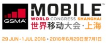 MOBILE WORLD CONGRESS SHANGHAI, 29.6.-1.7.2016