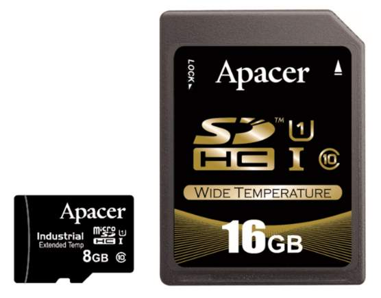 Apacer launches industrial-grade R1-series microSD/SD memory cards