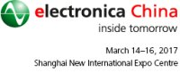 electronica China 2018, Shanghai, 14-16 March 2017
