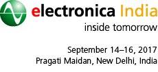 electronicaIndia2017,NewDelhi,14.-16.9.2017