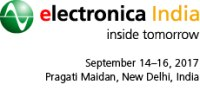 electronica India 2017, New Delhi, 14.-16.9.2017