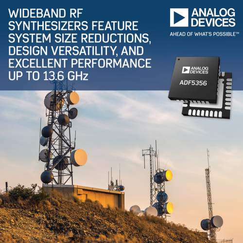 Analog Devices' Wideband RF Synthesizers Feature System Size Reduction, Design Versatility, and Excellent Performance to 13.6 GHz