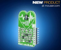 Easily Add Biometrics to Designs with MikroElektronika's Heart Rate 4 click board, Now at Mouser