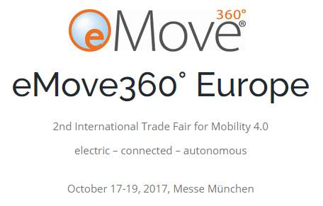 eMove360°,17.-19.10.2017,München,DE