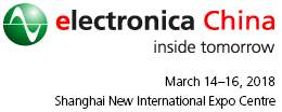 electronica China, March 14 – 16, 2018, Shanghai