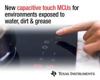 New robust, noise-immune capacitive-sensing MCUs from TI bring touch control to cost-sensitive industrial applications
