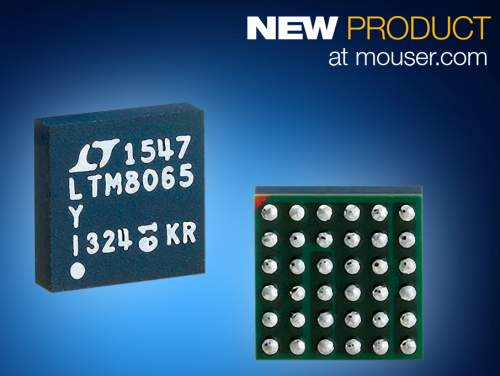 MouserNowShippingAnalogDevicesLTM8065µModuleRegulatorwithSilentSwitcherTechtoLowerEMI/EMC