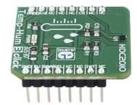 MikroElektronika's MIKROE-2937 smart environmental temperature and humidity sensor features Texas Instruments' HDC2010 sensor