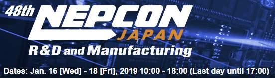 NEPCONJapan,Tokyo,16.-18.1.2019