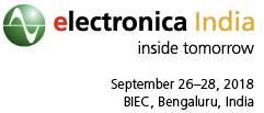 electronicaIndia,Bengaluru,India,26.-28.9.2018