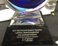 Lattice Semiconductor Named a Juniper Networks 2017 Top Account Support Supplier of the Year