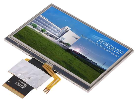 4-in-1 TFT displays from POWERTIP