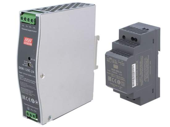 DIN rail DC/DC power supply units from MEAN WELL