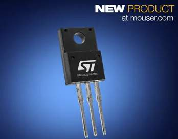 Mouser Electronics Now Stocking STMicroelectronics MDmesh M6 High-Efficiency Super-Junction MOSFETs