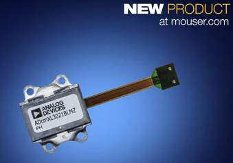 Mouser Electronics Now Stocking Analog Devices' ADcmXL3021 Triaxial Vibration Sensor for Condition-Based Monitoring